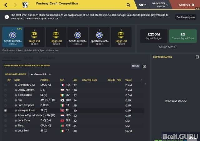 Football Manager 2016 game torrent download