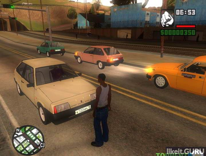 GTA San Andreas Game Russian cars, download, torrent GTA with Russian engines