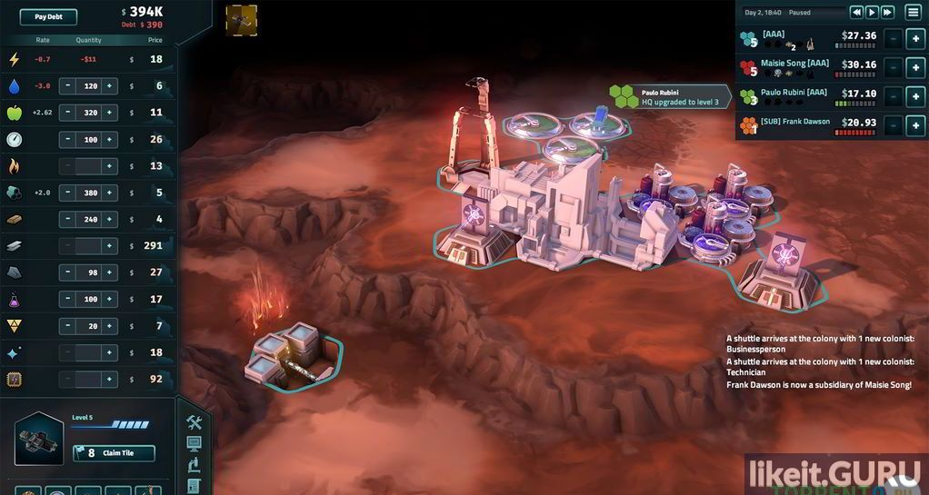 Strategy free Offworld Trading Company torrent