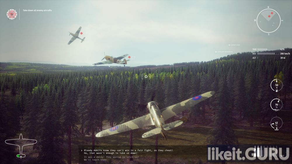 303 Squadron: Battle of Britain game screen