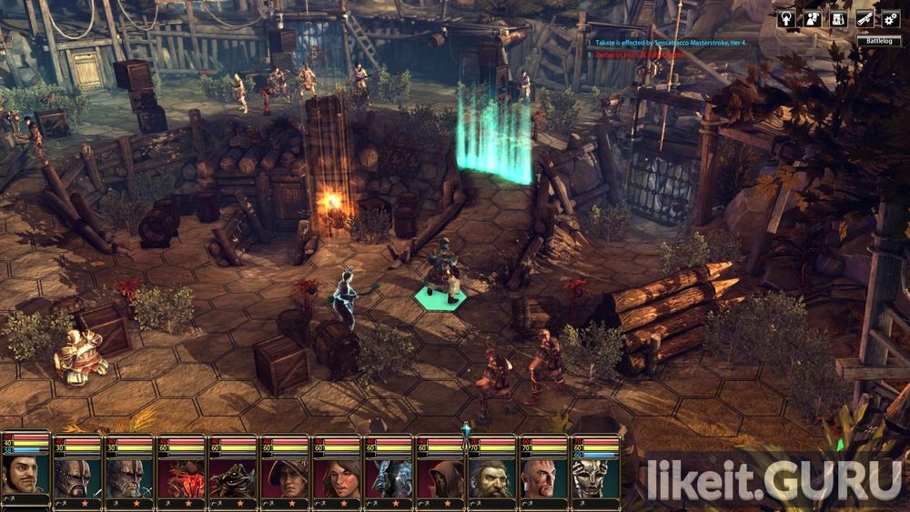 Blackguards 2 game screen