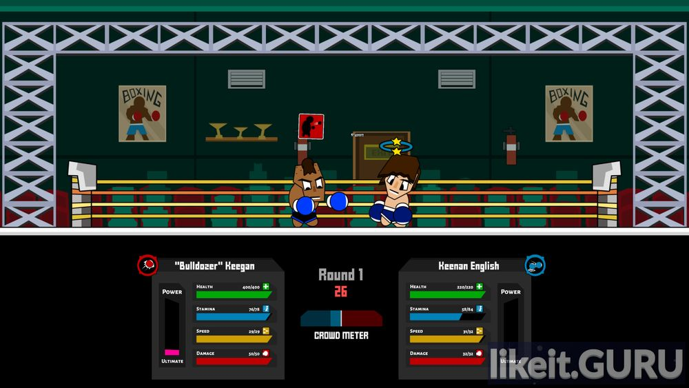 Boxing School game screen