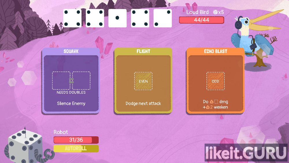 Dicey Dungeons game screen