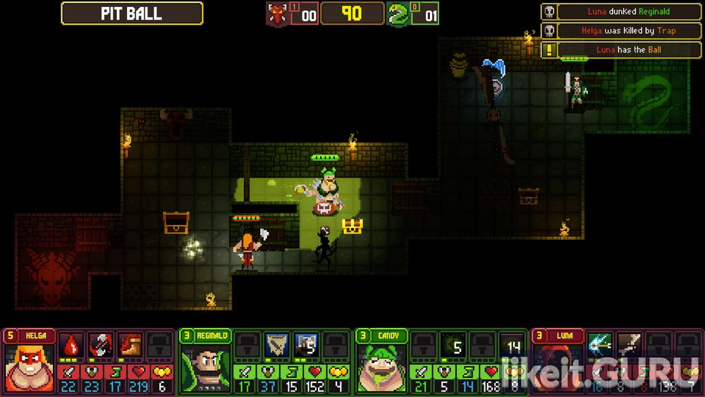 Dungeon League game screen