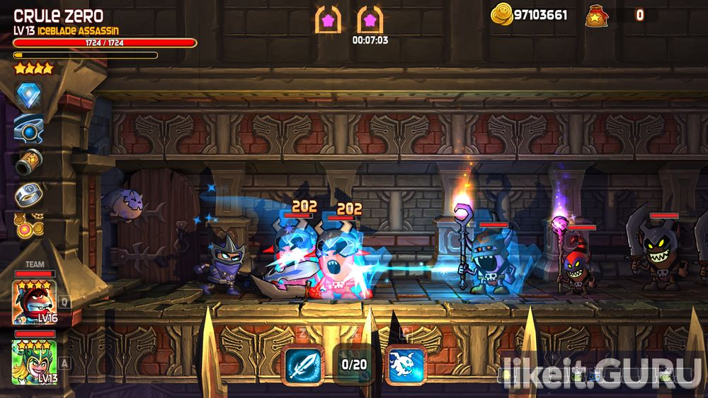 Dungeon Stars game screen