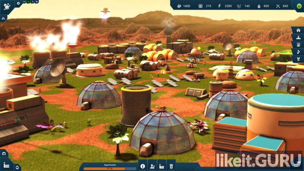 Earth Space Colonies game screen