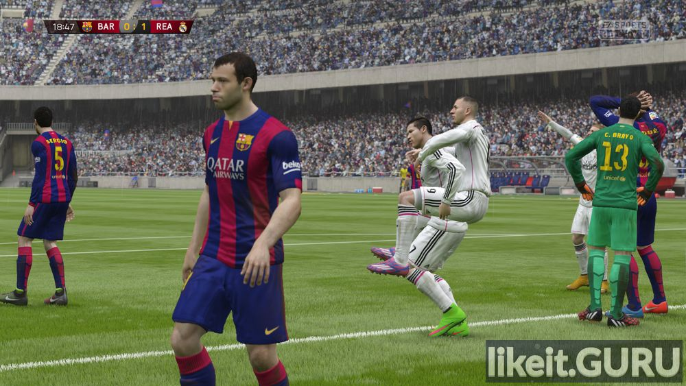 FIFA 15 game screen