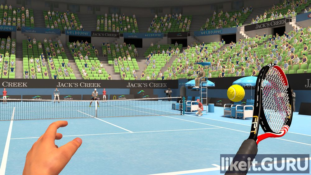 First Person Tennis is The Real Tennis Simulator game screen
