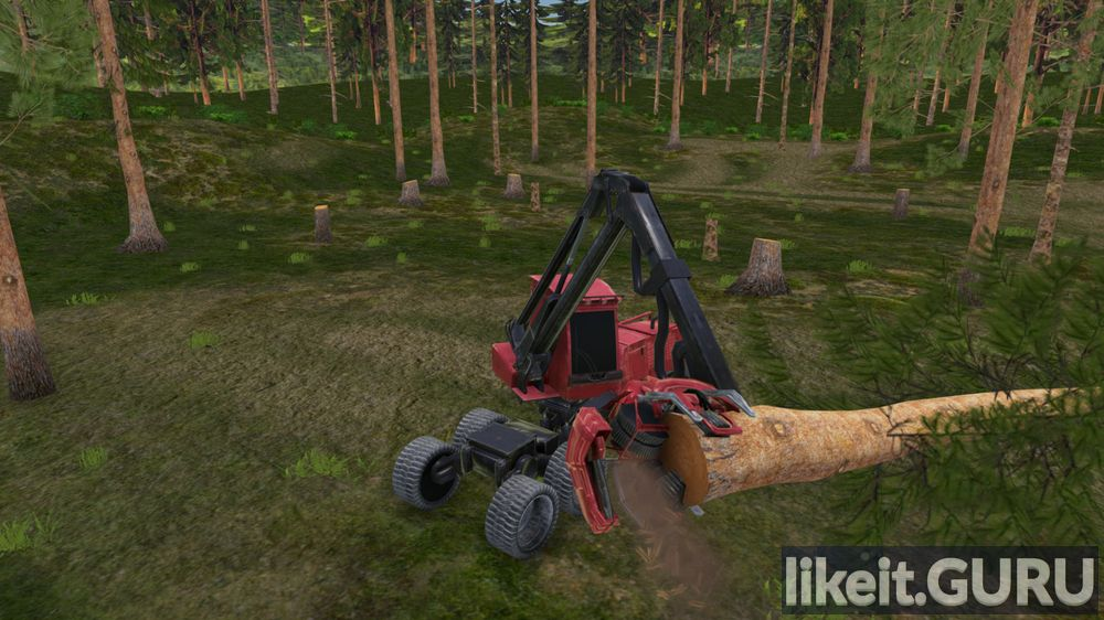 Forest Harvester Simulator game screen