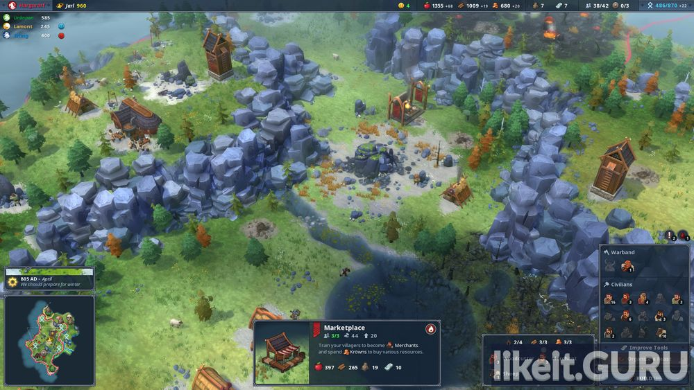 Northgard himminbrjotir clan of the ox cheat engine