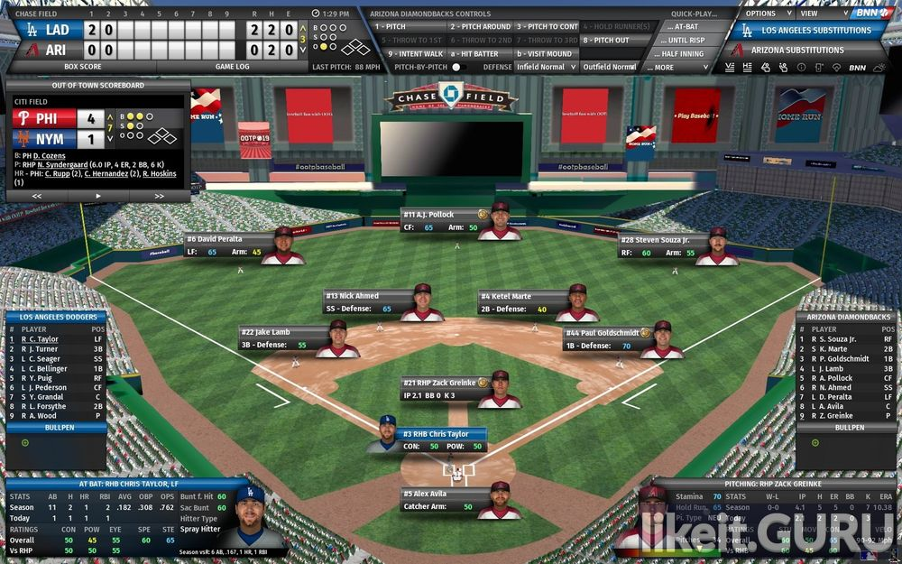 Out of the Park Baseball 19 game screen