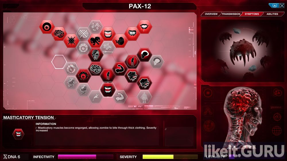 Plague Inc: Evolved game screen