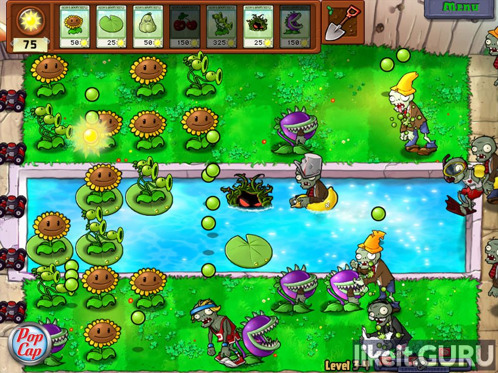 Plants vs. Zombies game screen