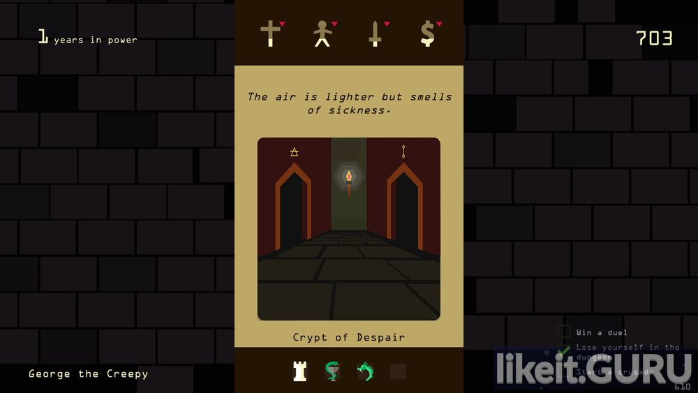 Reigns game screen