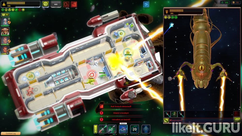Space Rogue game screen