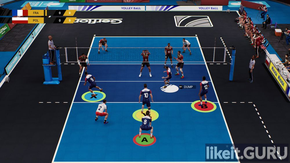 Spike Volleyball game screen