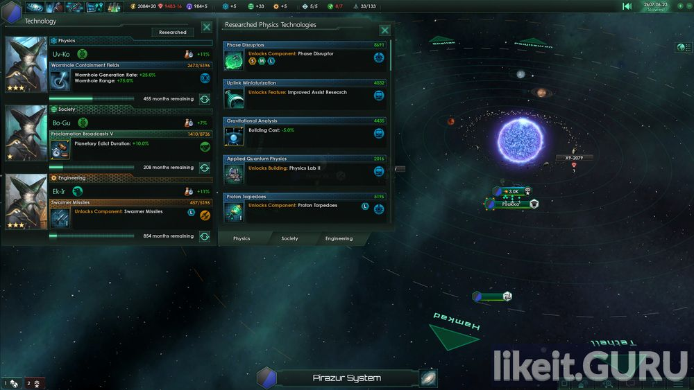 Stellaris: Galaxy Edition game screen