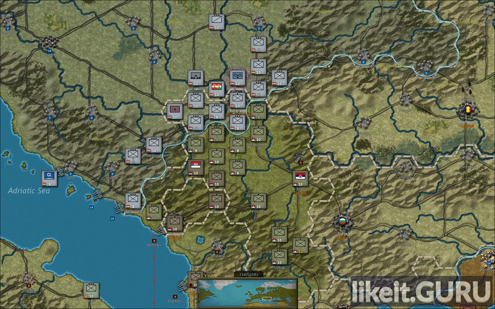 Strategic Command: World War I game screen