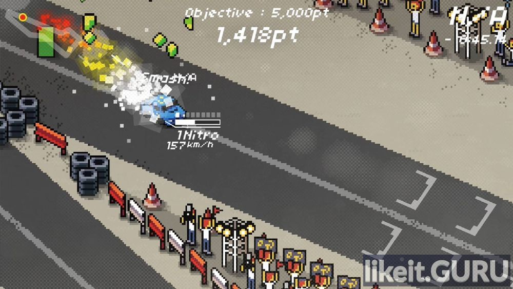 Super Pixel Racers game screen
