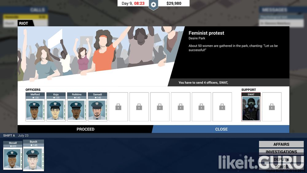 This Is the Police game screen