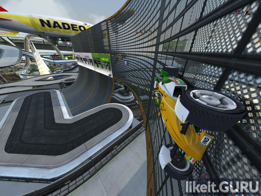 TrackMania Nations Forever game screen