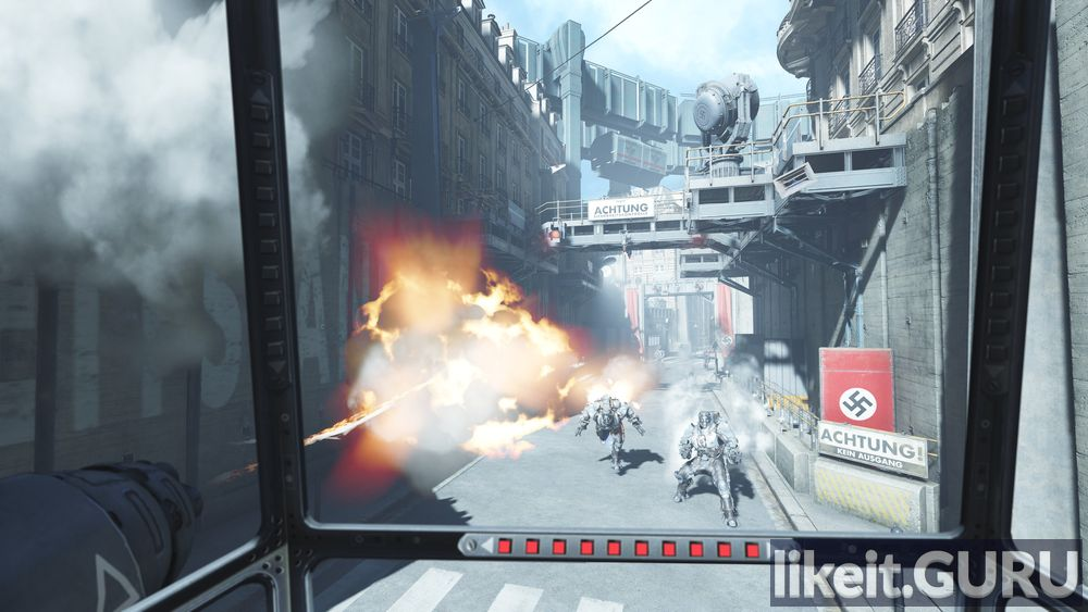 Wolfenstein: the Cyberpilot game screen