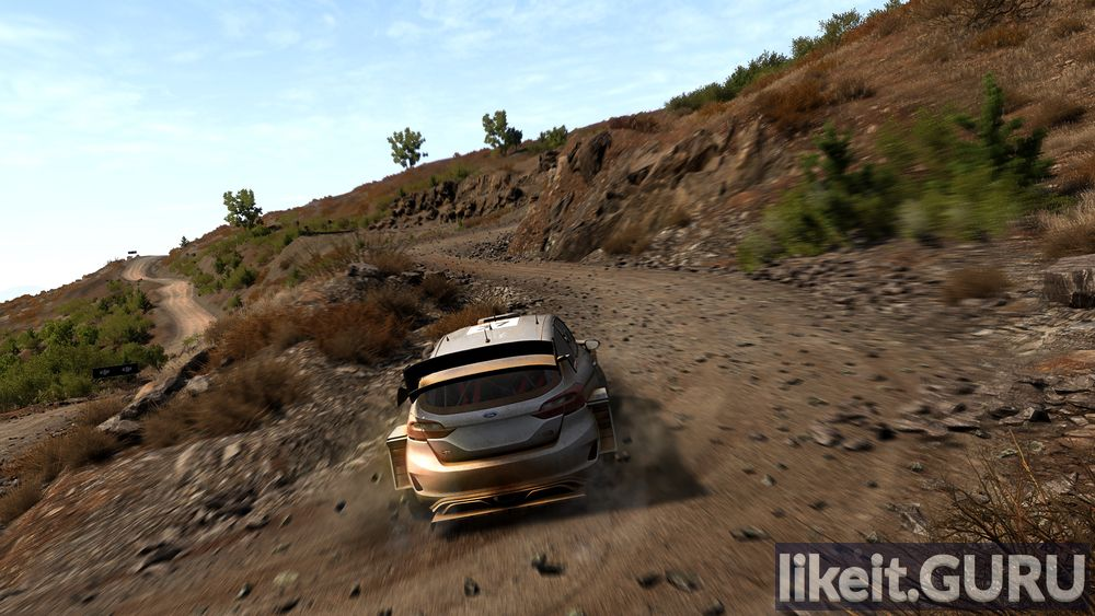 8 WRC FIA World Rally Championship game screen