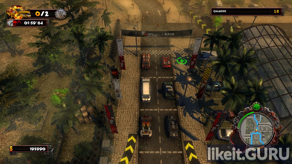 Zombie Driver HD game screen